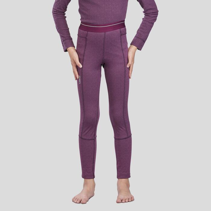 Sous-vêtement de ski enfant Bas 500 Prune