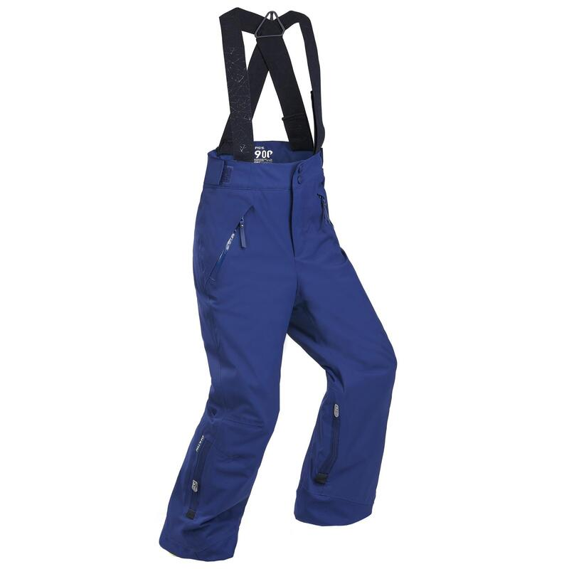 KIDS' WARM AND WATERPROOF SKI TROUSERS PNF 900 NAVY BLUE