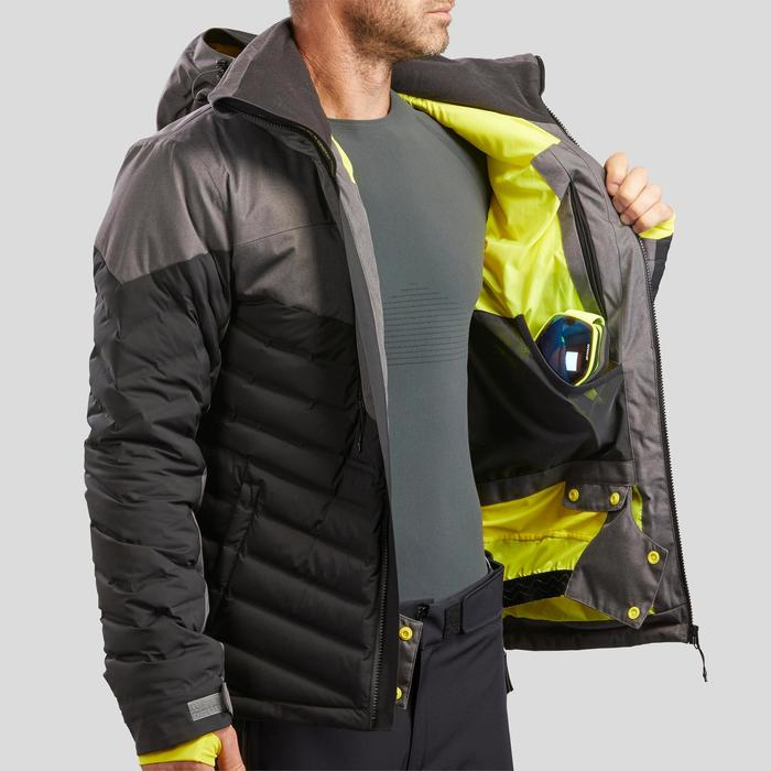 MEN'S D-SKI JACKET 900 WARM - BLACK