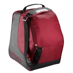 SKI BOOT BAG 500 - GREY AND MAROON