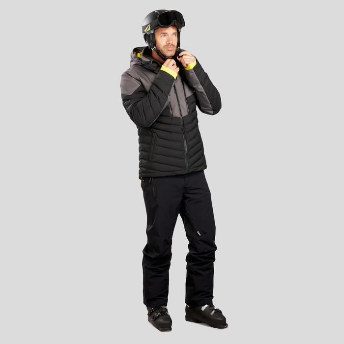 Donsjas heren ski 900 warm zwart