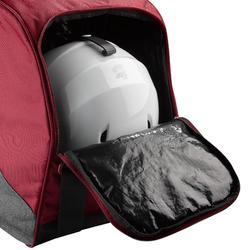 滑雪靴袋500 - 灰色與栗紅色