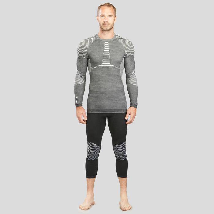 Camiseta térmica Esquí y Nieve interior Wed'ze 900 X-Warm Hombre Gris