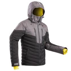 男款下坡滑雪外套900 WARM - 黑色
