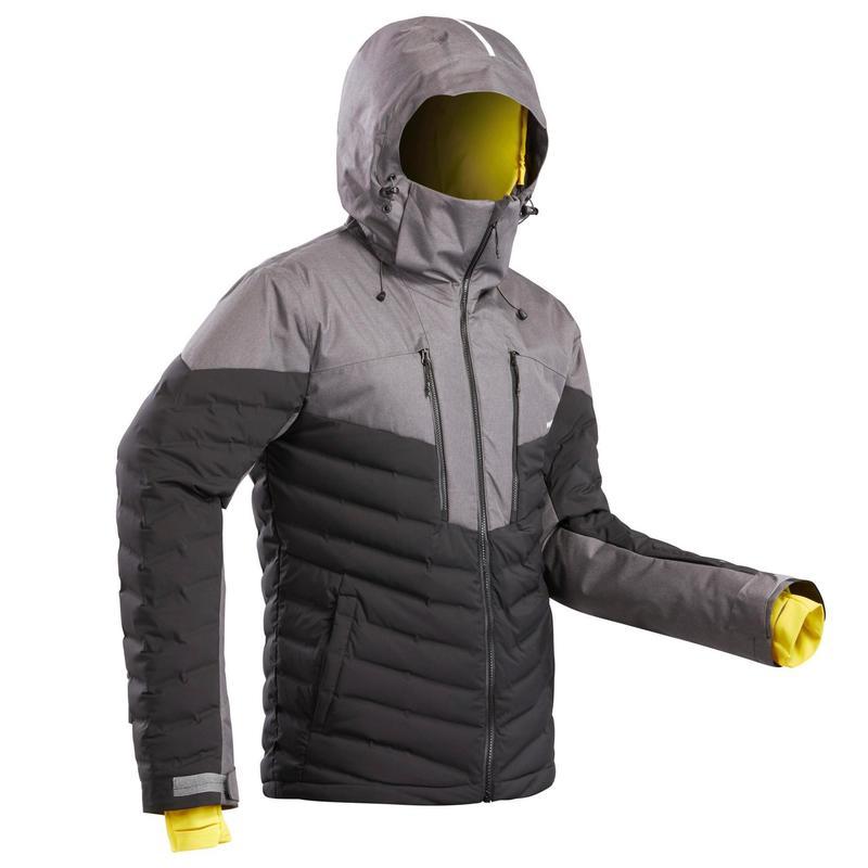 Men's Warm Padded Ski Jacket 900 Black