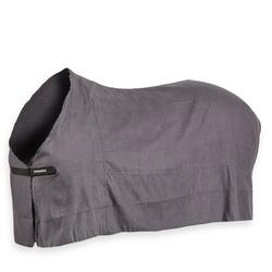成馬及小馬用乾燥毯-灰色