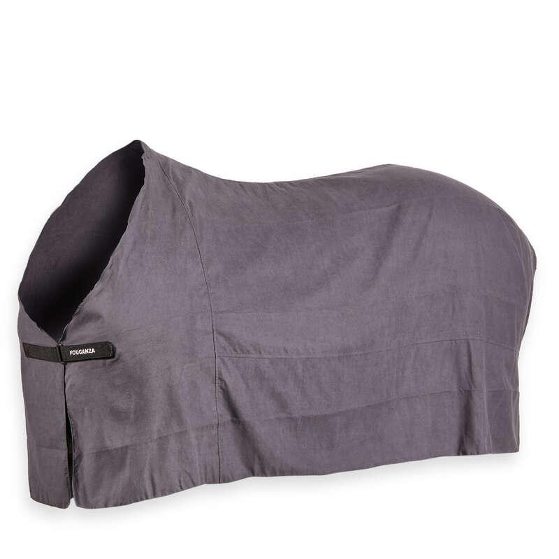 SHEETS & COOLER Horse Riding - Drying Rug - Grey FOUGANZA - Saddlery and Tack