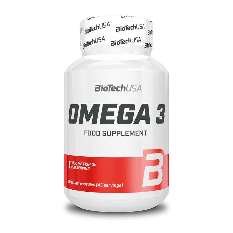 FEHÉRJÉK ÉS EGYÉB TÁPLÁLÉKKIEGÉSZÍTŐK Táplálékkiegészítő, sporttáplálkozás - Omega 3, 90 lágykapszula BIOTECHUSA - Multisport kiegészítők