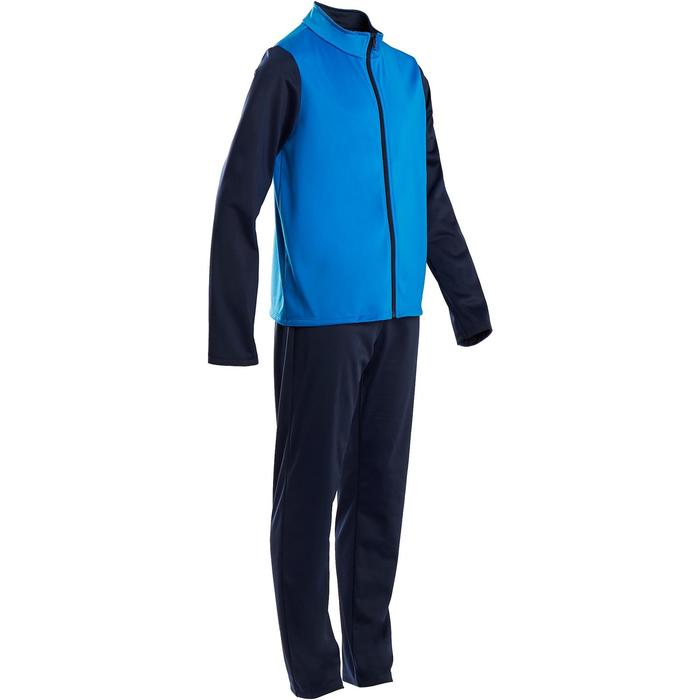 Trainingsanzug warm Synthetik atmungsaktiv Gym'Y S500 Gym Kinder blau