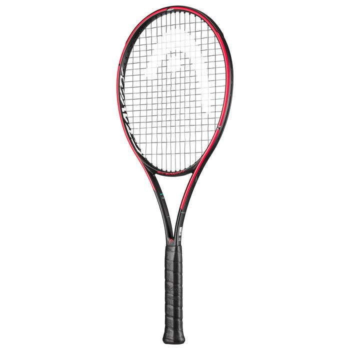 Tennisracket volwassenen Gravity MP Graphene 360+ oranje blauw