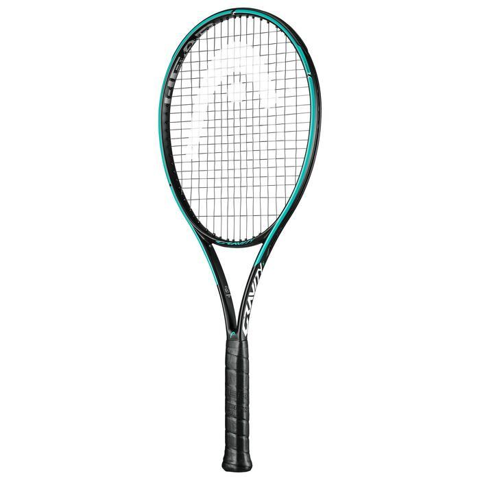 Tennisracket volwassenen Gravity S Graphene 360+ oranje blauw
