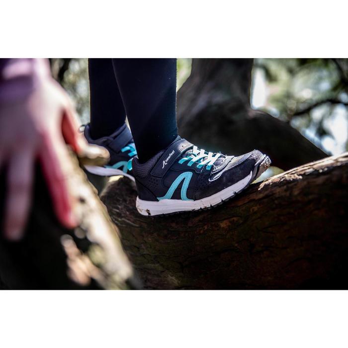 Sportschuhe Walking Protect 560 Leder Kinder grau/türkis