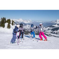 Ski-jas voor kinderen 500 Warm grijs/blauw