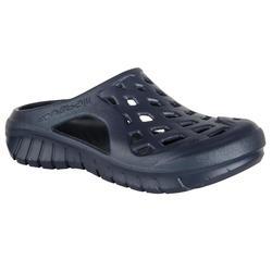Badslippers voor heren Clog 100 marineblauw