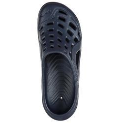 男款泳池拖鞋100深藍色