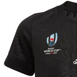 Rugbytrikot Replika Neuseeland WM 2019 Erwachsene schwarz