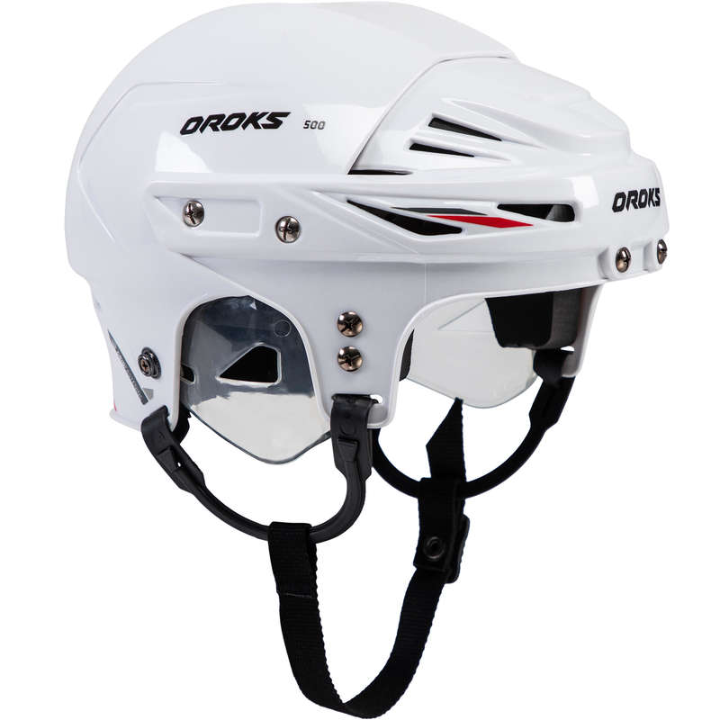 HOCKEY EQUIPMENT Roller Hockey - IH500 JR Hockey Helmet - White OROKS - Roller Hockey