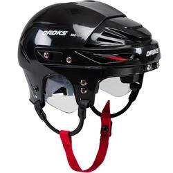 IJshockeyhelm kind IH500 zwart