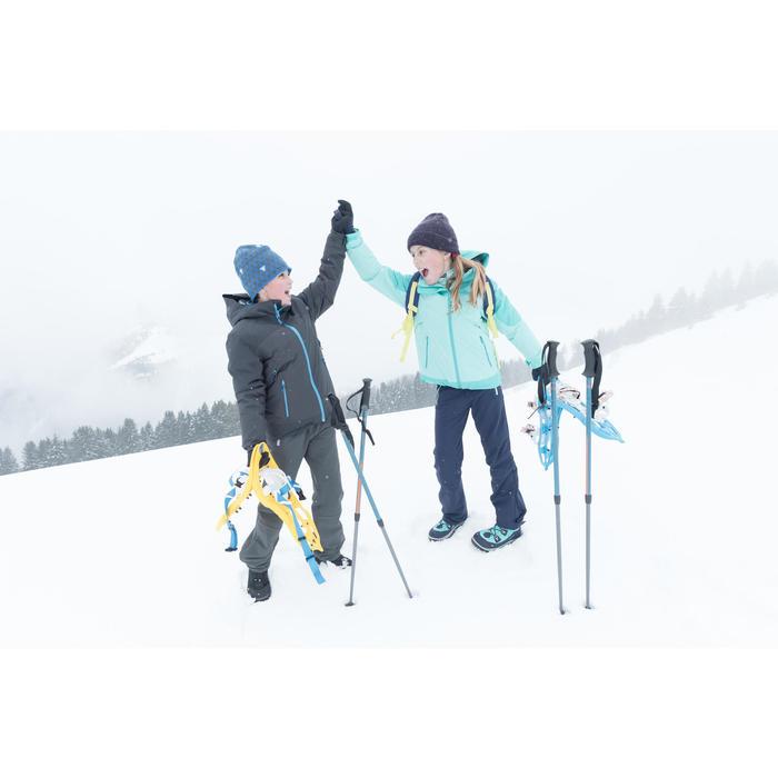兒童款雪地健行保暖高筒靴 SH500-黑色