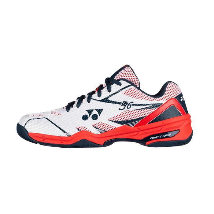 Badmintonschoenen voor heren Power Cushion 56 wit/rood