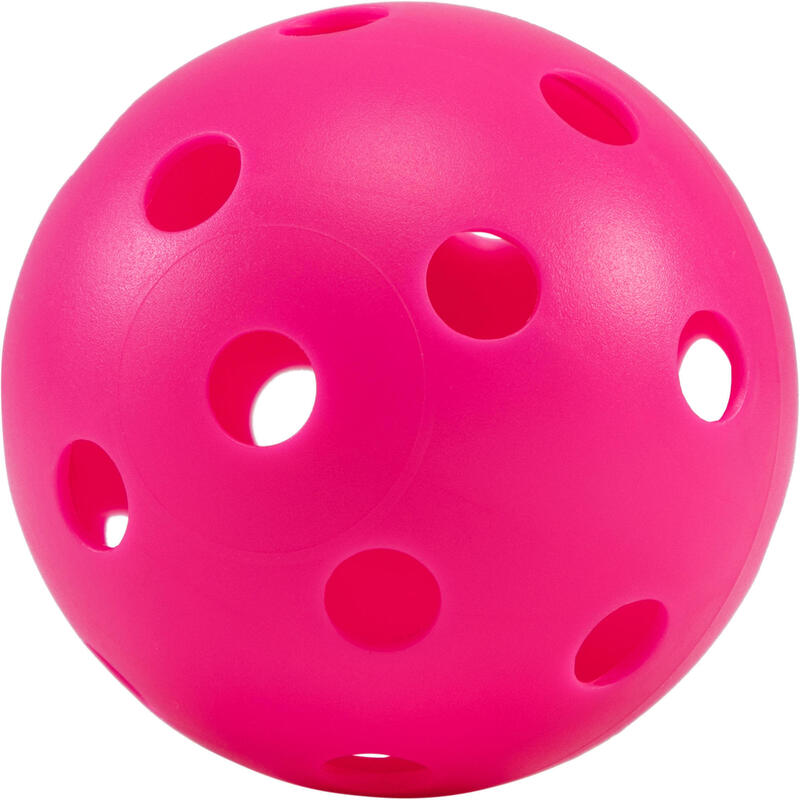BALLE FLOORBALL 100 PINK FLUO
