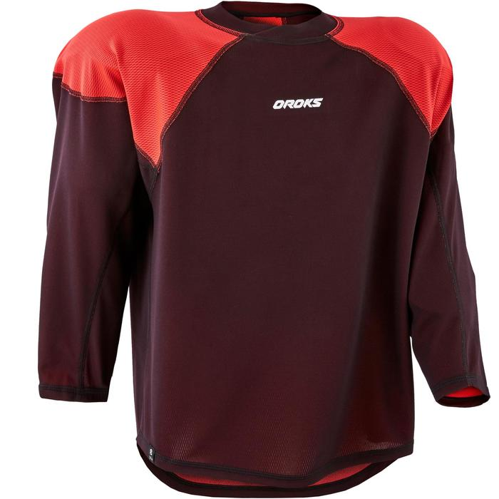 Hocekyshirt junior IH 500 zwart/rood