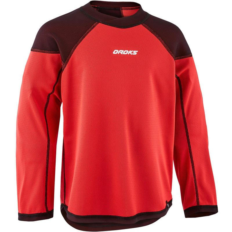 Kids' Training Jersey ILH 500 - Black/Red