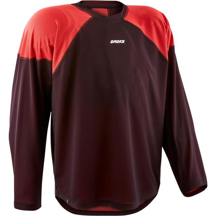 Hockeyshirt senior IH 500 zwart/rood
