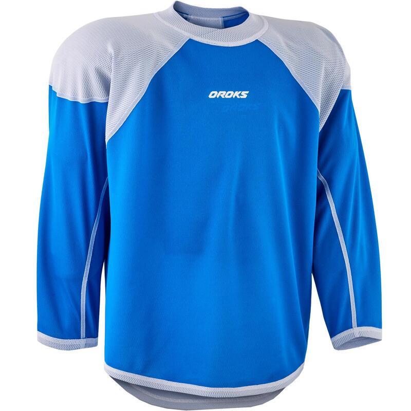 Tricou hochei IH 500 alb/albastru Juniori