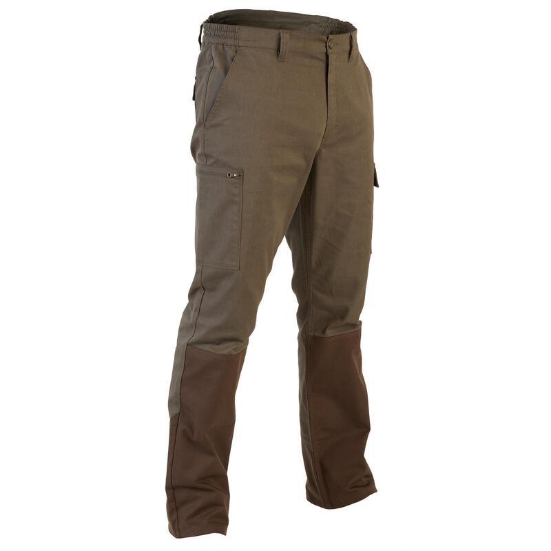 Pantalon Caza Solognac 320 Hombre Reforzado Marron