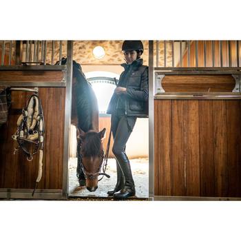 Chaleco Equitación Fouganza 500 Warm Niño Azul Gris y Caqui Cálido de Guata