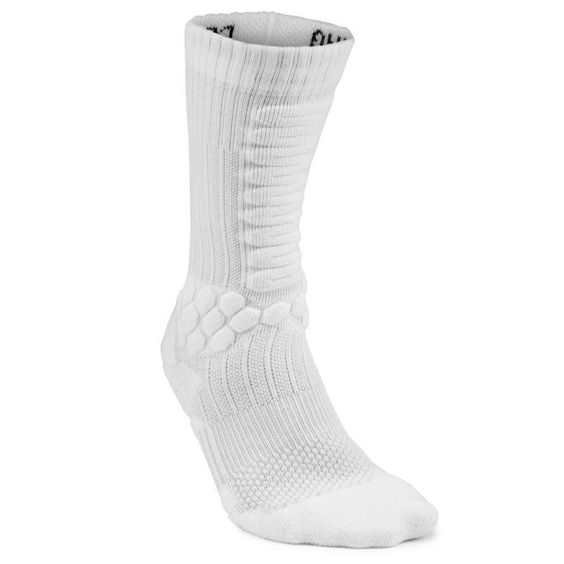 Calcetines Semialtos Skate Socks 500 Blanco