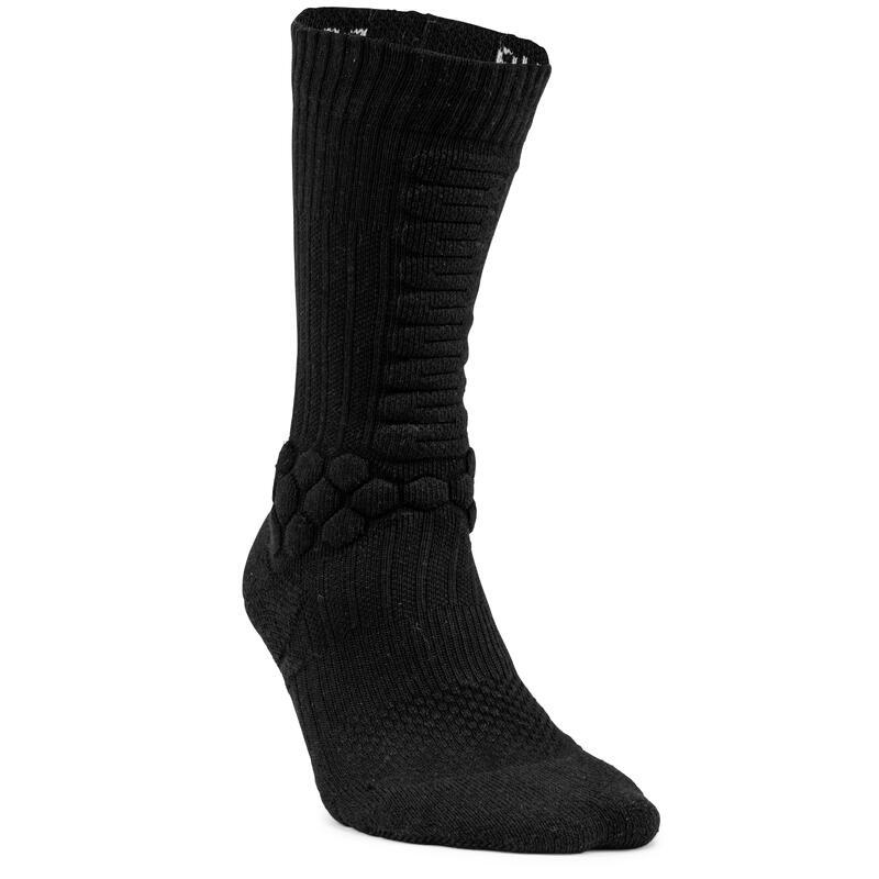 500 Skateboarding Mid-Rise Socks - Black