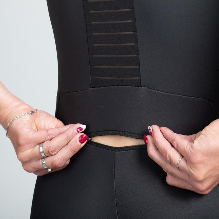 Fietsbroek met bretels voor dames Quick-Zipp