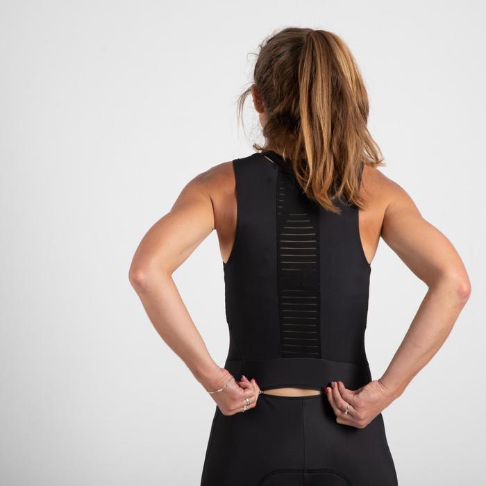 collant cyclosport bretelles quick-zip femme