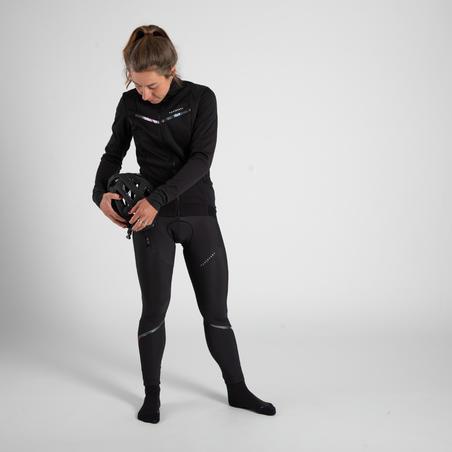 Collant temps froid cyclosport noir - Femme