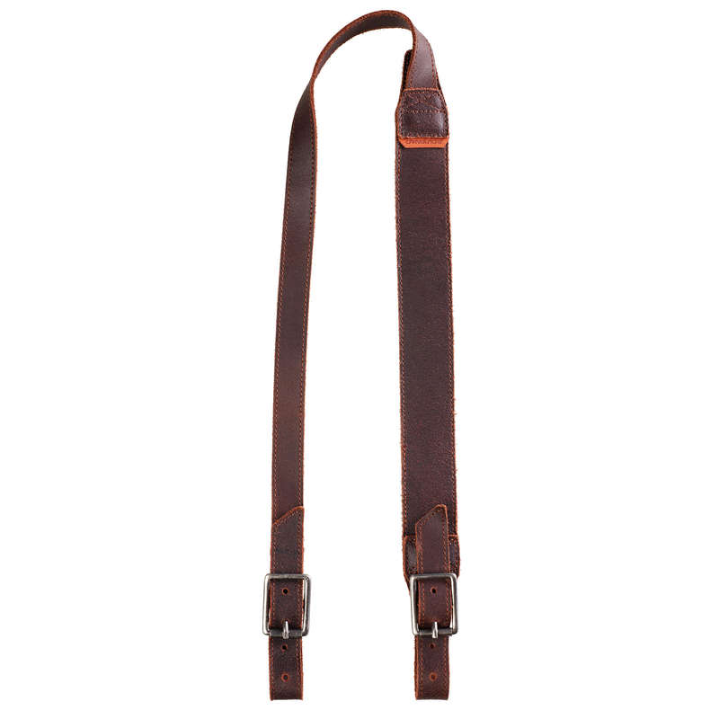 SMALL GAME SHOTGUN/AMMO TRANSPORT Shooting and Hunting - LEATHER SLING 500 SOLOGNAC - Shooting and Hunting