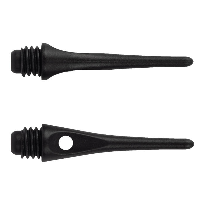 50 plastic dartpunten (soft tip) zwart