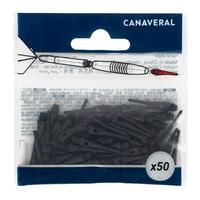 50 Plastic (Soft Tip) Dart Tips - Black