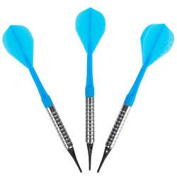 3 dartpijlen plastic punt S100 blauw