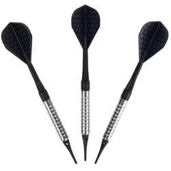 Dartpfeile S100 Softdart 3 Pfeile Kunststoffspitzen schwarz