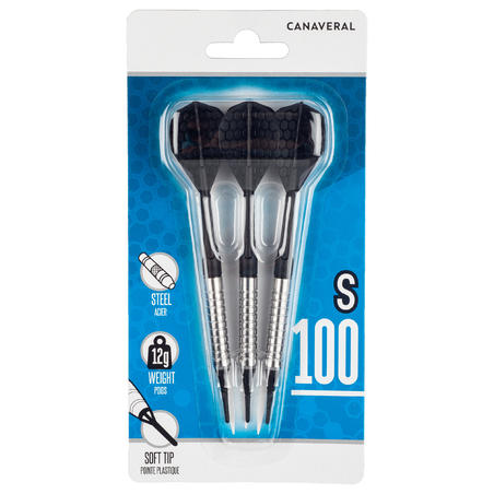 S100 Canaveral Soft Tip Darts Tri-Pack