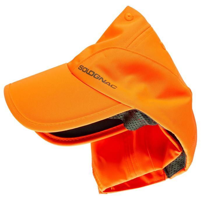Gorra Caza Solognac Plegable Naranja Fluo