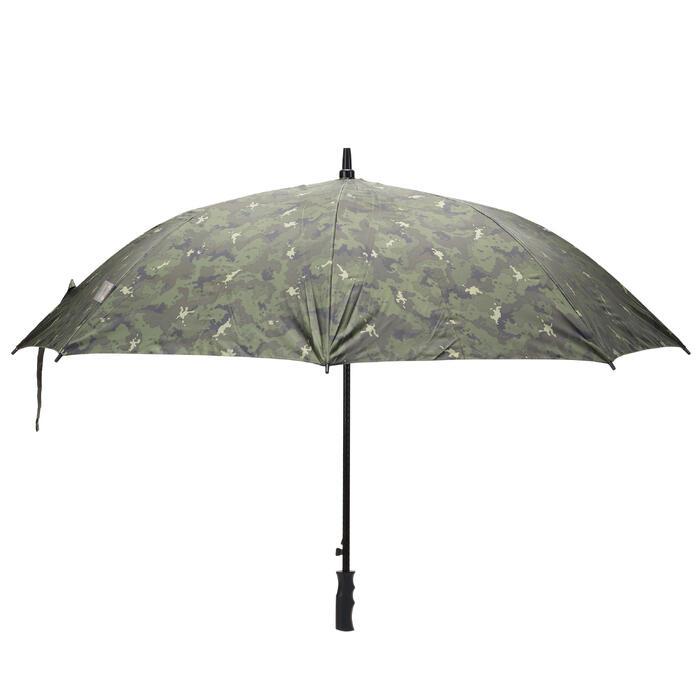 Paraguas de caza camuflaje island verde