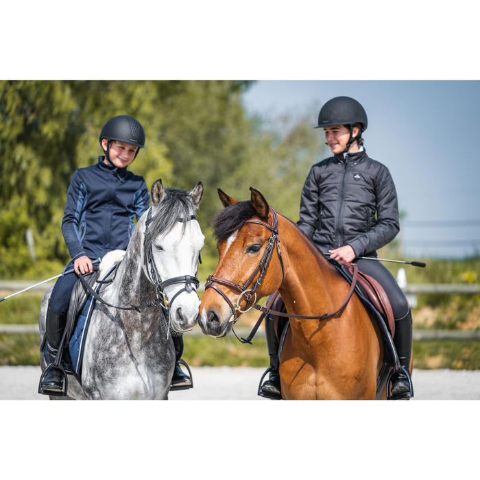 Winter-Reitblouson 500 wasserdicht Kinder grau