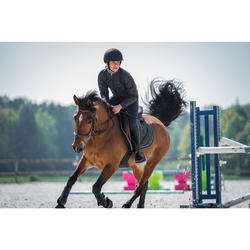 Winter-Reithose 180 Warm Vollbesatz Full Seat Kinder dunkelgrau