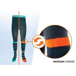 Maillot met sokken ski kinderen blauw/oranje