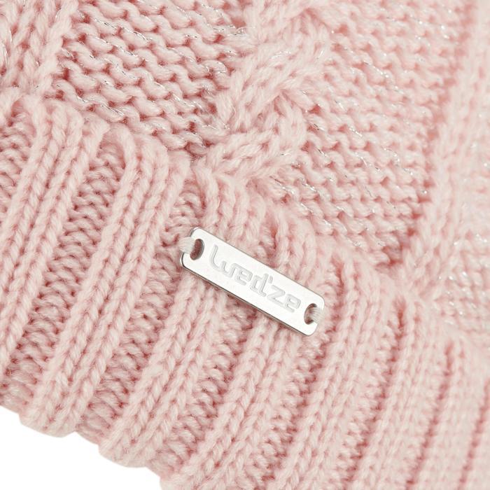 Skimütze Zopfmuster Torsades FUR rosa