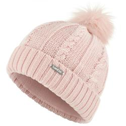 Skimuts in kabelbrei Fur roze