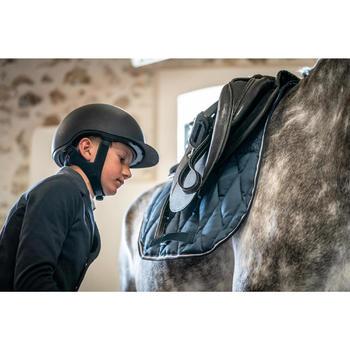Tapis de selle équitation cheval et poney 500 JUMP gris foncé